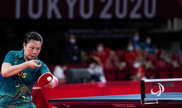 La australiana Lina Lei (en la foto) y Qian Yang han ganado el oro en sus respectivas categorías de tenis de mesa de la final femenina individual.