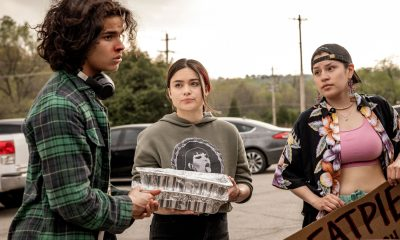 """RESERVATION DOGS """"NDN Clinic"""" Episode 2 (Airs Monday, August 9) — Pictured: (l to r): D'Pharaoh Woon-A-Tai as Bear, Devery Jacobs as Elora Danan Postoak, Paulina Alexis as Willie Jack. CR: Shane Brown/FX"""