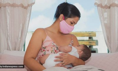 breastfeeding, breastfeeding week, breastfeeding mothers, how to breastfeed when the mother is Covid positive, Covid-19 and breastfeeding, how to safely breastfeed a baby when the mother is infected, indian express news