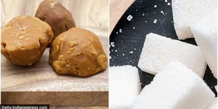 jaggery vs sugar, jaggery benefits vs sugar benefits, is jaggery better than sugar, ria ankola, jaggery nutrition, sugar nutrient value, indianexpress.com, indianexpress,