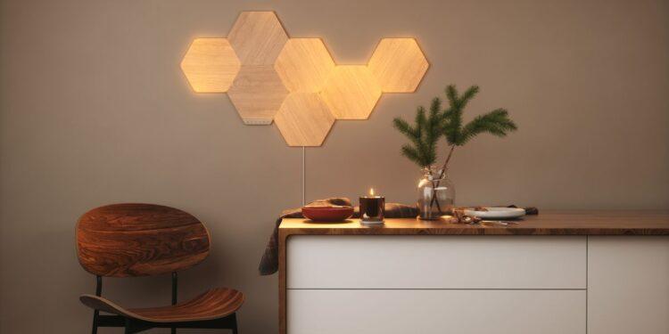Ahorre en los nuevos paneles de pared LED de madera Elements de Nanoleaf