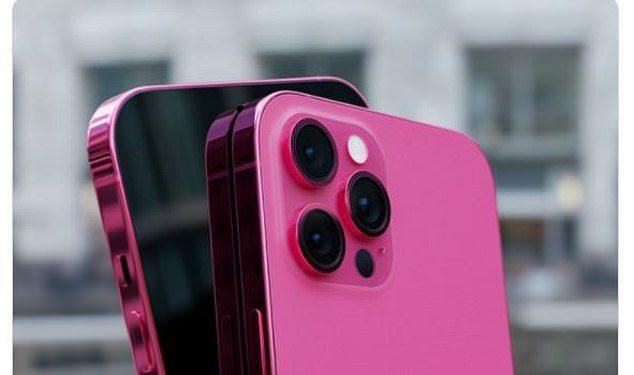 En la imagen: una representación del aspecto que podría tener el iPhone 13 rosado de Apple.  Además de los nuevos colores, el nuevo dispositivo puede ser más grueso para acomodar una batería más grande.