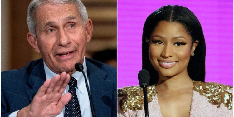 Fauci sugiere que la afirmación de la vacuna 'Bolas hinchadas' de Nicki Minaj es simplemente una locura