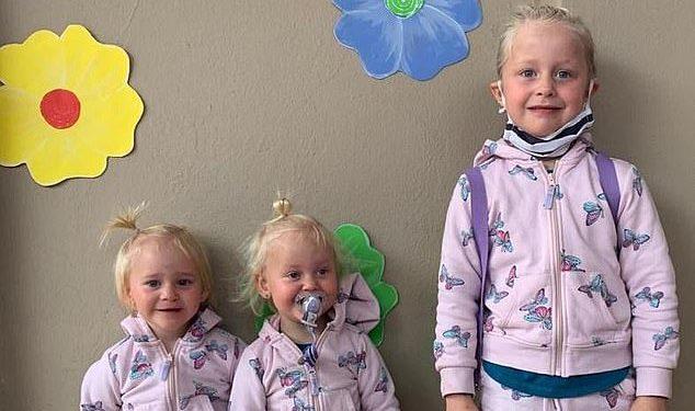La doctora sudafricana Lauren Dickason, de 40 años, ha sido acusada del asesinato de sus mellizas de dos años, Maya y Karla, y de su hermana Liane, de seis años (en la foto juntas).