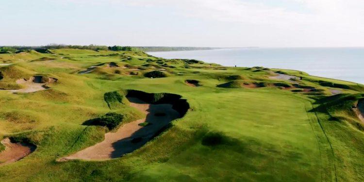 Video de drones: No. 11 en Whistling Straits 'Straits Course para la Ryder Cup