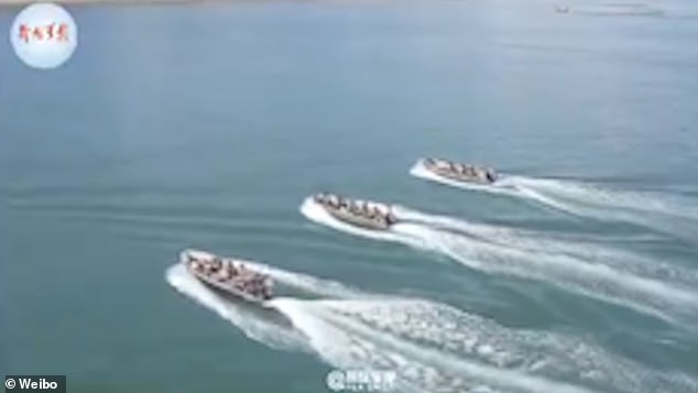 El lunes, el diario oficial del Ejército Popular de Liberación dijo que se habían realizado simulacros