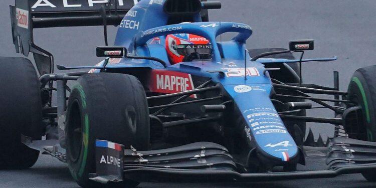 Esteban Ocon quiere colgar un neumático turco que anota puntos en la pared de la fábrica Alpine