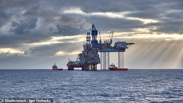 Gran Bretaña debe explotar sus propios recursos energéticos para poner fin a la dependencia de la nación de las importaciones extranjeras y proteger a las familias de los apagones, exigieron anoche los diputados y los líderes de la industria.  En la foto: una plataforma de perforación en el Mar del Norte