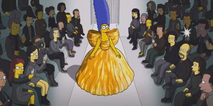 the simpsons, balenciaga, fashion show
