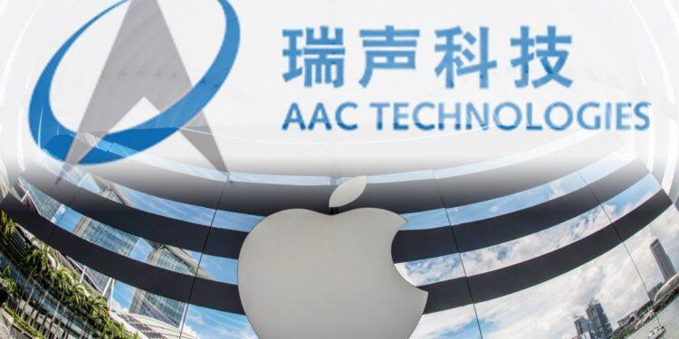 Las ganancias del tercer trimestre del proveedor de Apple AAC se redujeron a la mitad en medio del caos de la cadena de suministro
