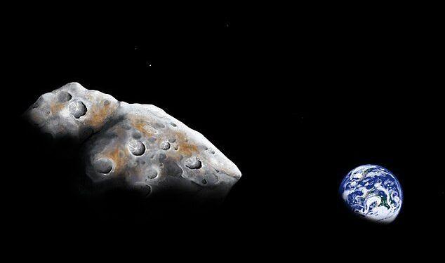 Se podrían extraer dos asteroides cercanos a la Tierra ricos en metales para obtener sus recursos.  El asteroide 1986 DA (impresión del artista) podría tener hierro, níquel y cobalto por valor de más de $ 11 billones