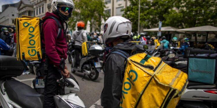 Los trabajadores de la plataforma se reúnen en Bruselas para exigir mejores derechos laborales