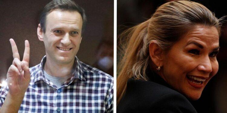 Navalny y Jeanine Anez en la lista de finalistas del premio Sájarov de derechos humanos de la UE