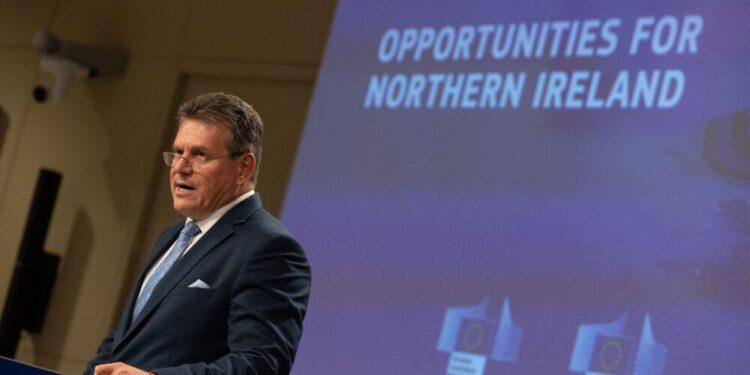 Šefčovič, optimista de que se pueda llegar a un acuerdo sobre Irlanda del Norte antes de fin de año
